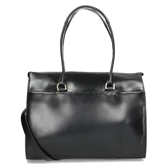 Kožená kabelka se zlatými detaily royal-republiq, černá, 964-6069 - 16
