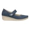 Kožené baleríny na klínovém podpatku bata, modrá, 626-9645 - 26