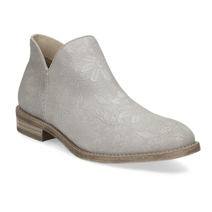 Kotníčkové dámské kozačky bata, šedá, 596-2685 - 13