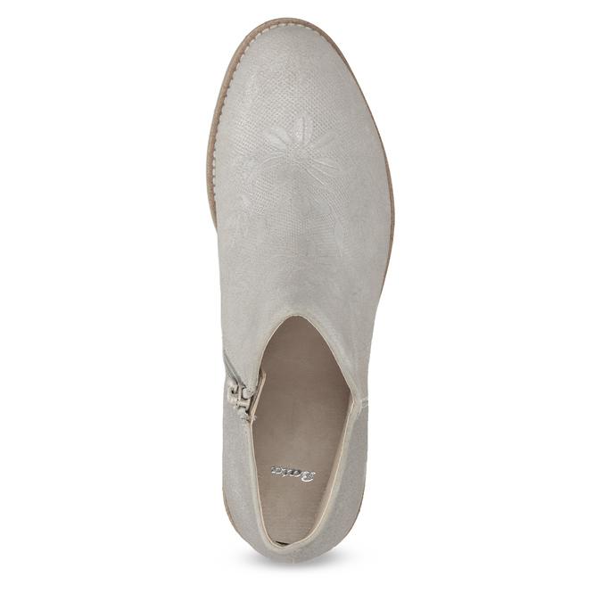 Kotníčkové dámské kozačky bata, šedá, 596-2685 - 17
