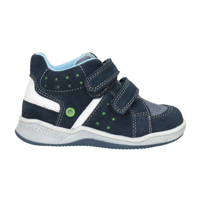 Dětská kožená kotníčková obuv bubblegummers, modrá, 113-9603 - 26