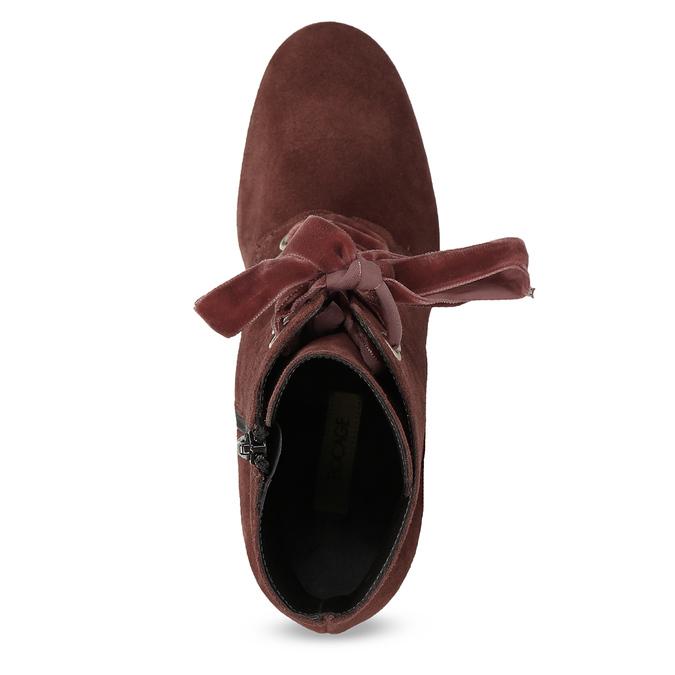 Kožené červené kotníčkové boty bata, červená, 793-5613 - 17