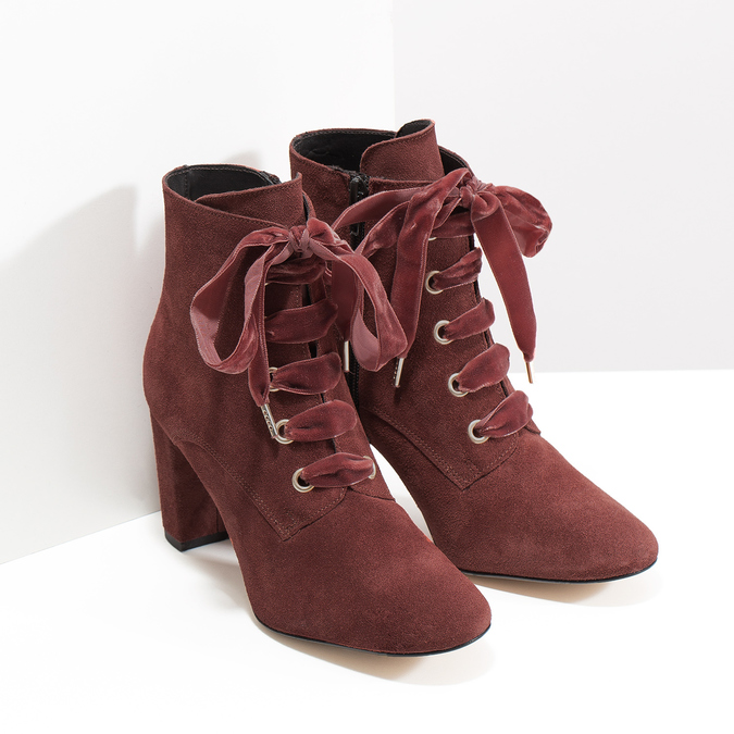 Kožené červené kotníčkové boty bata, červená, 793-5613 - 26