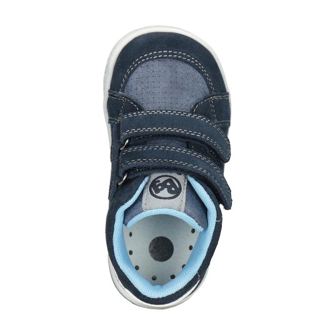 Dětská kožená kotníčková obuv bubblegummers, modrá, 113-9603 - 15