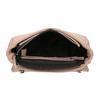 Crossbody kabelka s prošitím na klopě bata, růžová, 961-9826 - 15