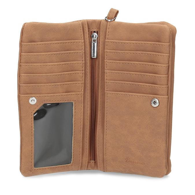 Hnědá dámská peněženka bata, 941-4215 - 15