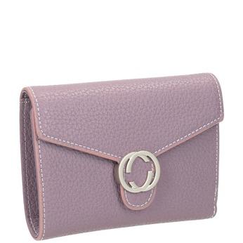 Růžová peněženka s kovovým detailem bata, 941-9213 - 13