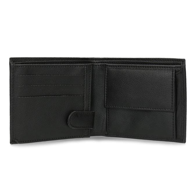 Kožená pánská peněženka s vroubky bata, černá, 944-6206 - 15