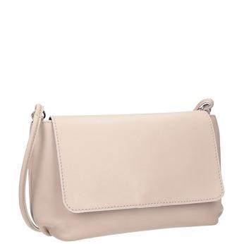 Krémová kožená kabelka bata, 964-9291 - 13