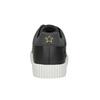 Černé ležérní tenisky s nášivkami north-star, černá, 541-9602 - 16