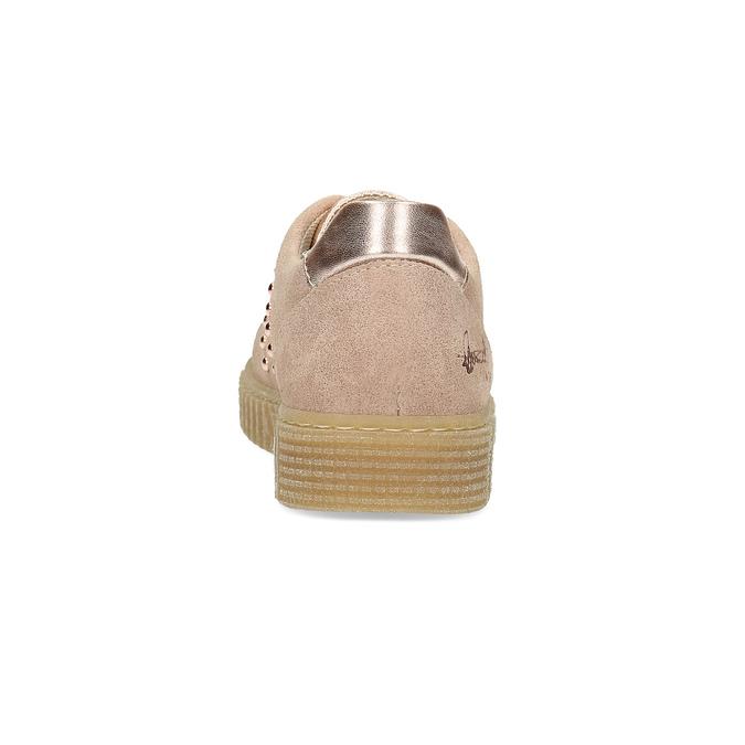 Růžové kožené tenisky se cvoky mini-b, 326-5605 - 15