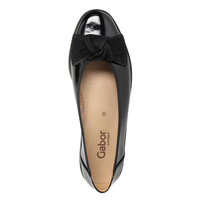 Kožené dámské baleríny gabor, černá, 628-6058 - 15
