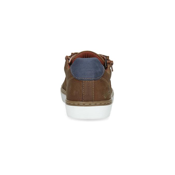 Dětské kožené tenisky mini-b, hnědá, 414-4600 - 15