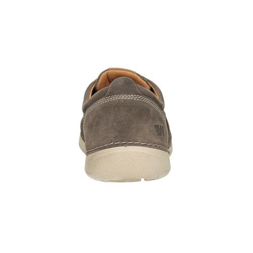 Ležérní polobotky z broušené kůže weinbrenner, hnědá, 846-4659 - 16