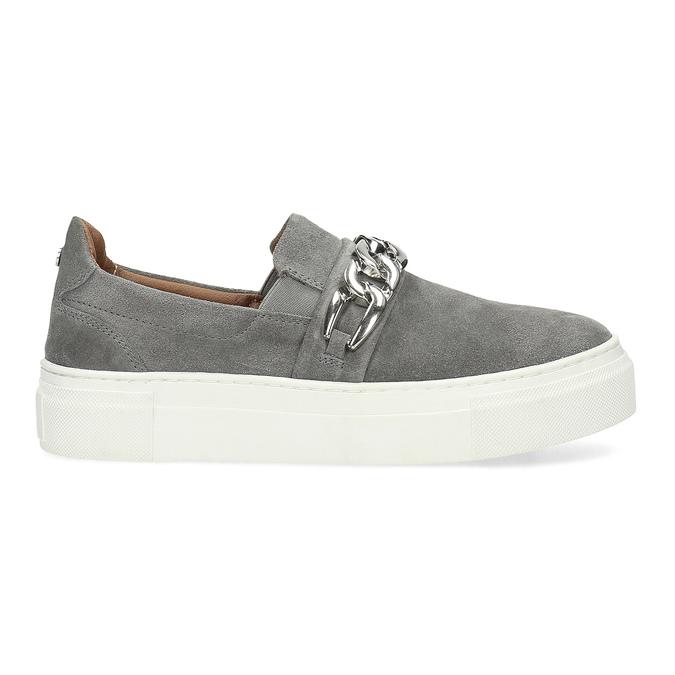 Dámské Slip-on s kovovou přezkou bata, šedá, 513-2600 - 19