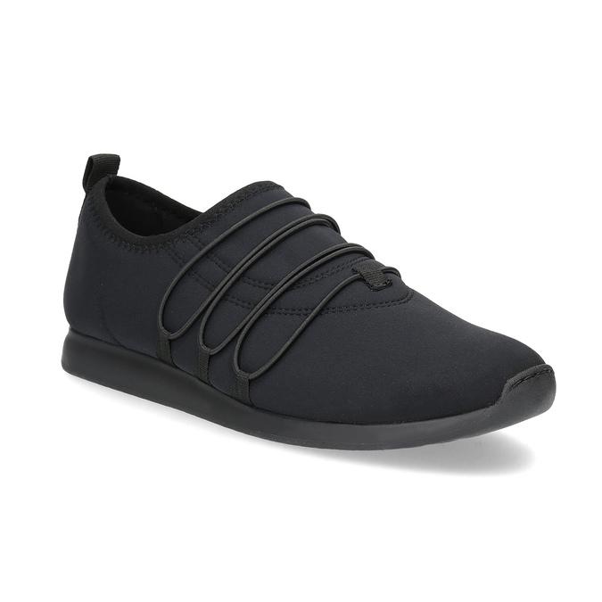 Slip-on tenisky s gumičkami vagabond, černá, 619-6132 - 13