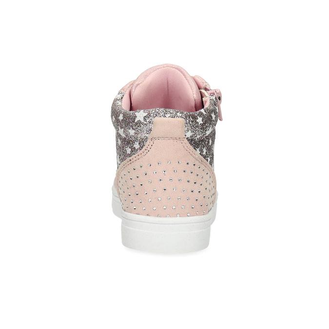 Růžové kotníčkové tenisky s kamínky mini-b, růžová, 229-5107 - 15
