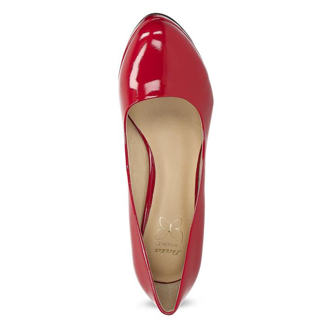 Červené lodičky z lakované kůže insolia, červená, 728-5104 - 17