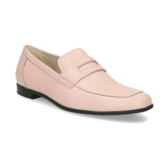 Růžové kožené Penny Loafers vagabond, růžová, 514-8094 - 13