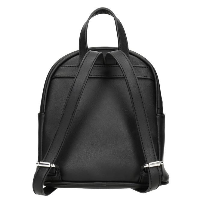 Černý batoh s nášivkami bata, černá, 961-6264 - 16