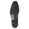 Černé kožené Derby polobotky bata, černá, 824-6981 - 17