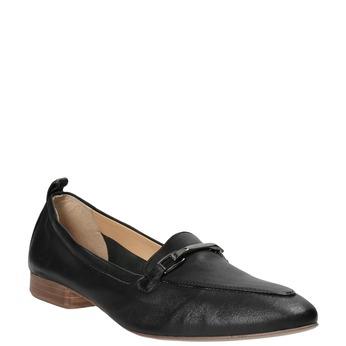 Kožené dámské mokasíny s přezkou bata, černá, 516-6619 - 13