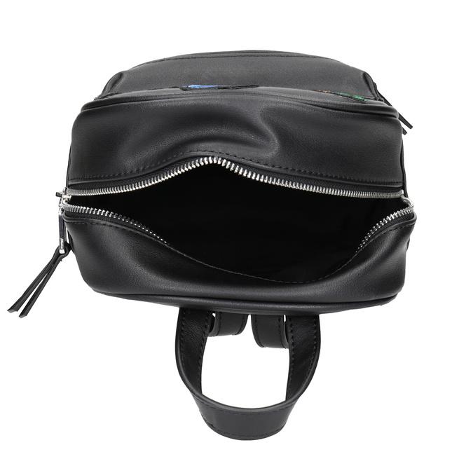 Černý batoh s nášivkami bata, černá, 961-6264 - 15