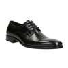 Černé kožené Derby polobotky bata, černá, 824-6981 - 13