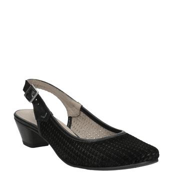 Lodičky šíře H s volnou patou bata, černá, 623-6645 - 13