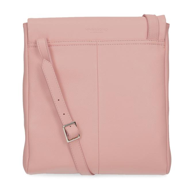 Růžová kožená Crossbody taška vagabond, růžová, 966-8064 - 16