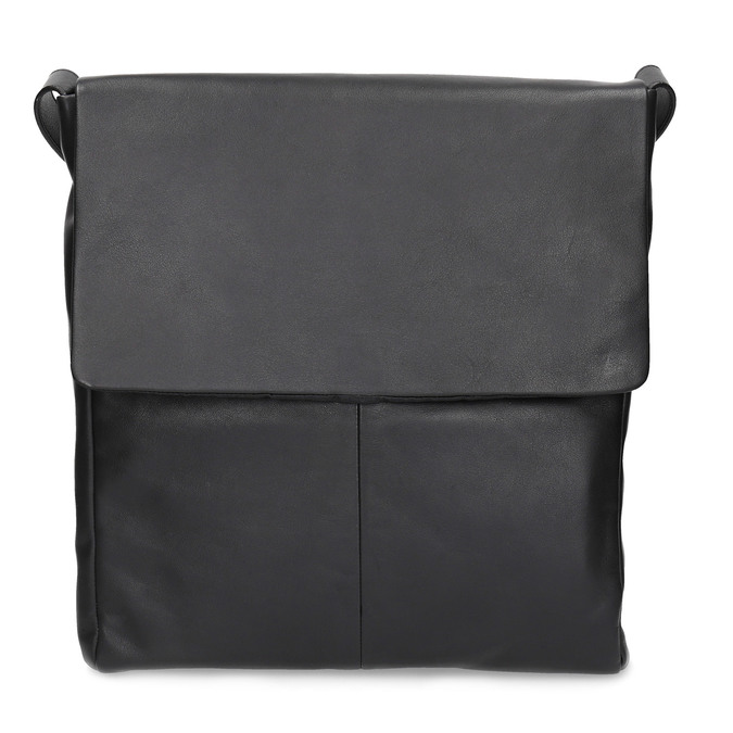 Kožená černá Crossbody s klopnou vagabond, černá, 964-6050 - 26