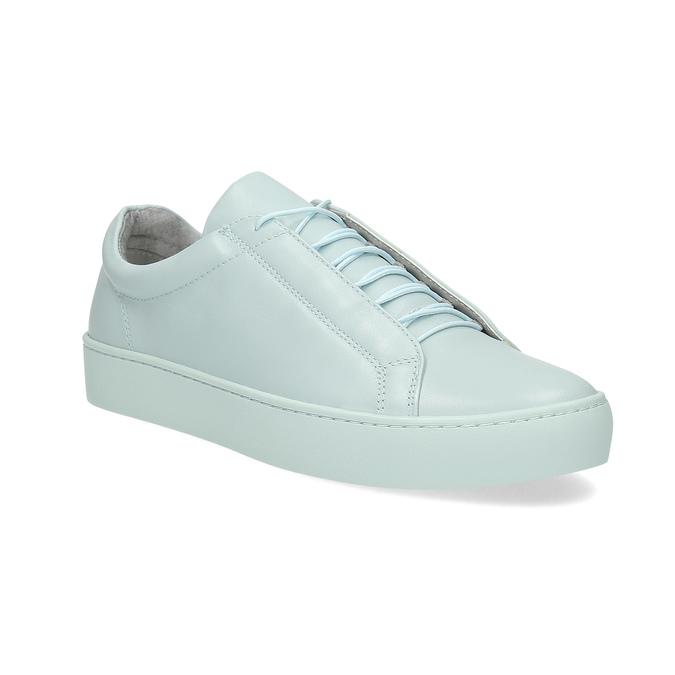 Modré kožené tenisky vagabond, modrá, 624-1018 - 13