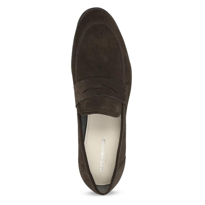 Kožené mokasíny ve stylu Penny Loafers vagabond, hnědá, 813-4053 - 17