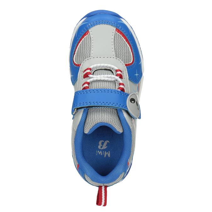 Dětské tenisky s blikající podešví mini-b, modrá, 211-9102 - 15