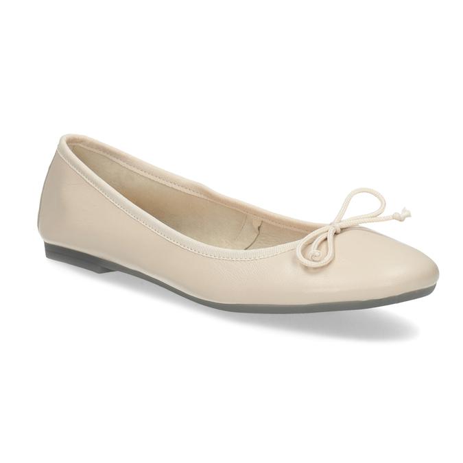 Kožené dámské baleríny béžové bata, béžová, 524-8144 - 13