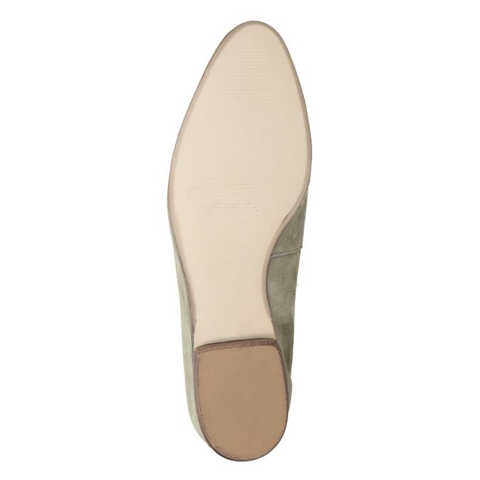 Dámské mokasíny z broušené kůže bata, béžová, 516-8618 - 19