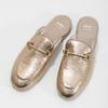 Dámské zlaté nazouváky s přezkou bata, zlatá, 511-8609 - 16