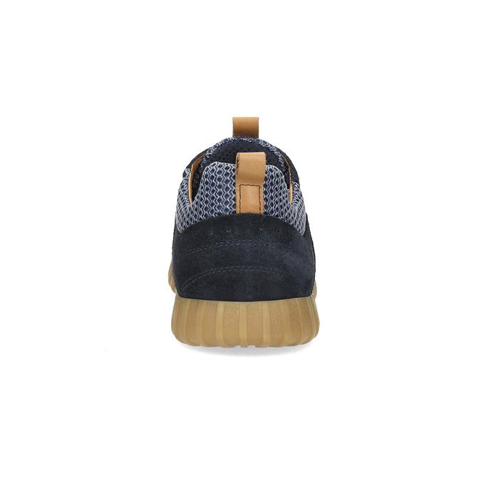 Pánské tenisky z broušené kůže modré bata, 843-9634 - 15