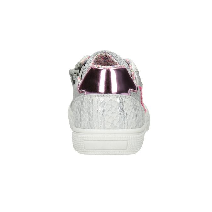 Dívčí tenisky s výšivkou mini-b, stříbrná, 321-1381 - 16