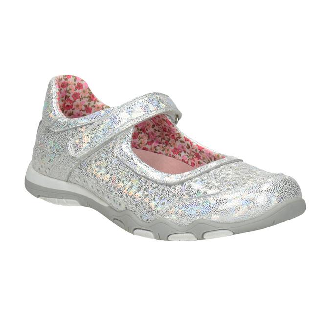 Metalické dívčí baleríny bubblegummers, stříbrná, 321-1614 - 13