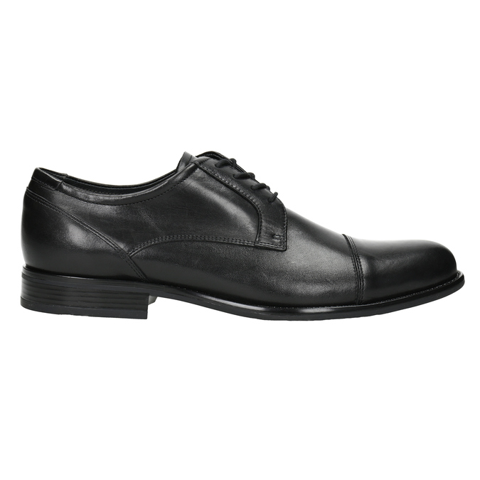 Kožené pánské Derby polobotky bata, černá, 824-6995 - 26