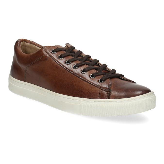 Kožené pánské tenisky bata, hnědá, 846-4648 - 13