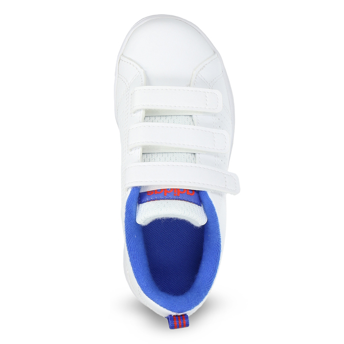 Bílé dětské tenisky na suché zipy adidas, bílá, 301-1968 - 17