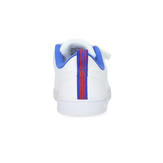 Bílé dětské tenisky na suché zipy adidas, bílá, 301-1968 - 15