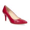 Červené kožené lodičky do špičky insolia, červená, 724-5650 - 13