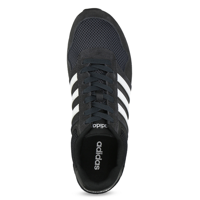 Černé pánské tenisky z broušené kůže adidas, černá, 803-6293 - 17