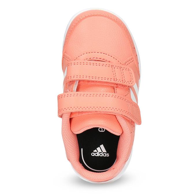 Dívčí růžové tenisky na suché zipy adidas, oranžová, 101-5151 - 17