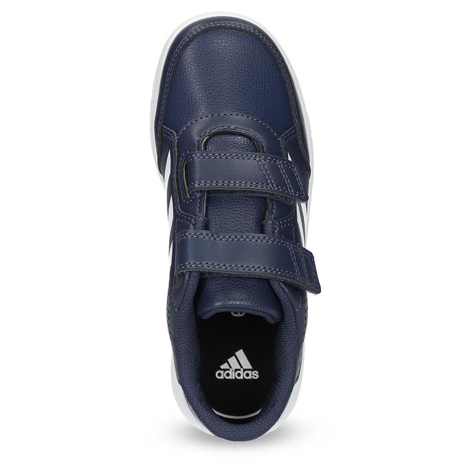 Modré dětské tenisky na suché zipy adidas, modrá, 301-9151 - 17