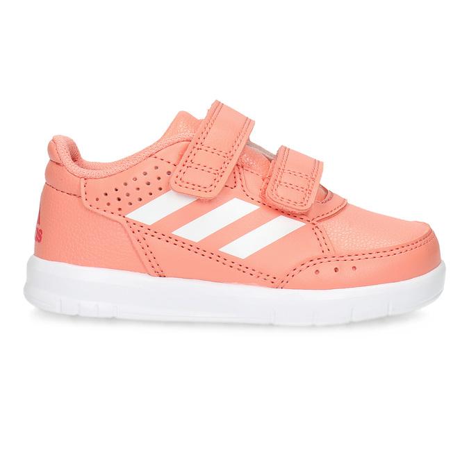 Dívčí růžové tenisky na suché zipy adidas, růžová, 101-5151 - 19