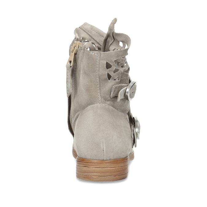 Kožené kotníčkové kozačky s průstřihy bata, šedá, 596-2689 - 15